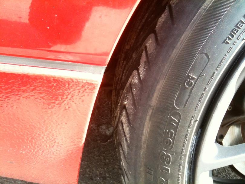 More tire shreads