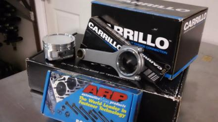 Carrillo Rods. ARP Head Bolts.
